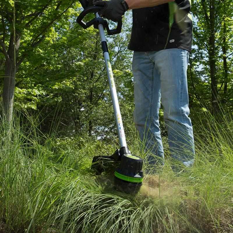 мощный аккумуляторный триммер для травы купить