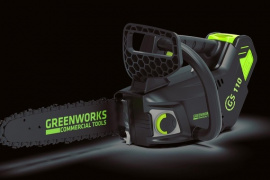 Поступили на склад одноручные цепные пилы Greenworks GD40TCS